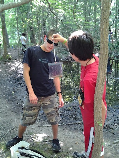 Two HRE Participants Mass a Newt