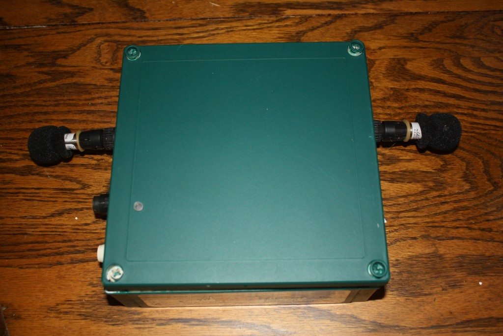 Frog logger with 2 microphones